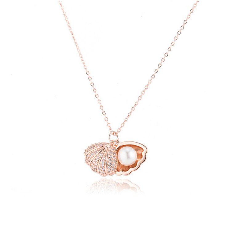 Dây chuyền bạc mạ vàng ngọc trai LILI_596512-5