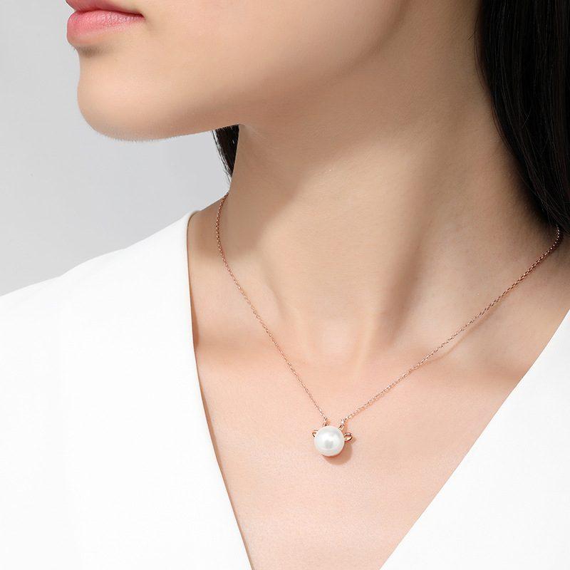 Dây chuyền bạc mạ vàng ngọc trai năm Sửu LILI_581344-4