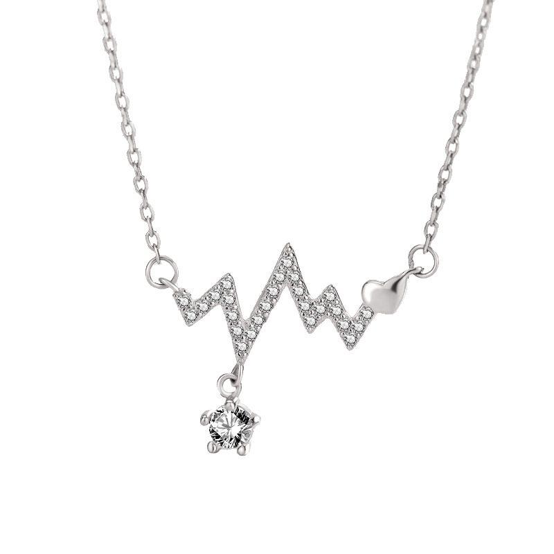Dây chuyền bạc mạ vàng nhịp tim LILI_293746-2