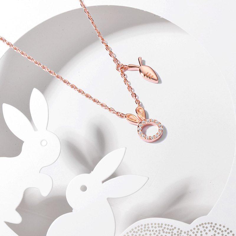 Dây chuyền bạc mạ vàng thỏ con LILI_524541-3