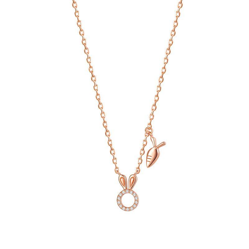 Dây chuy�n bạc mạ vàng th� con LILI_524541-6