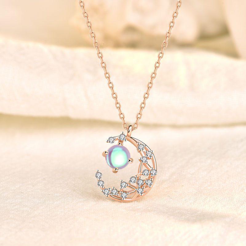 Dây chuyền bạc mạ vàng trăng sao LILI_127825-4