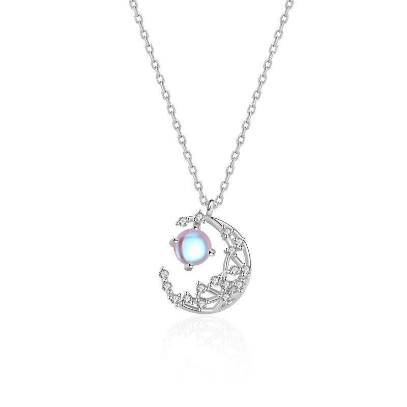 Dây chuyền bạc mạ vàng trăng sao LILI_127825-6