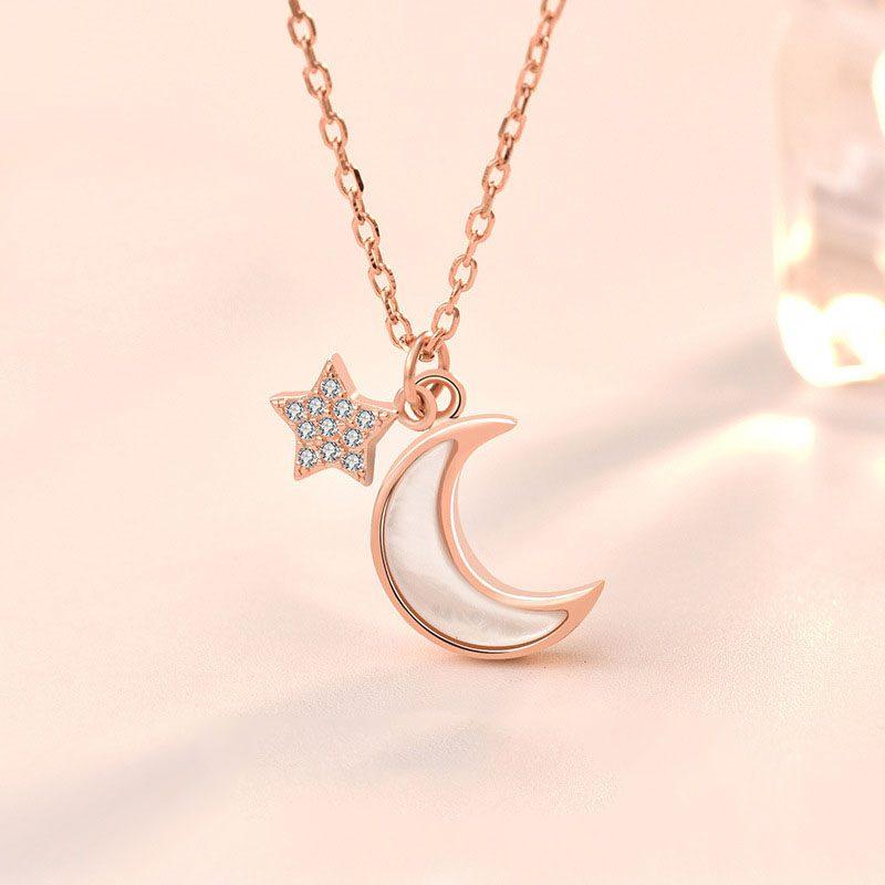 Dây chuy�n bạc mạ vàng trăng sao LILI_652773-2