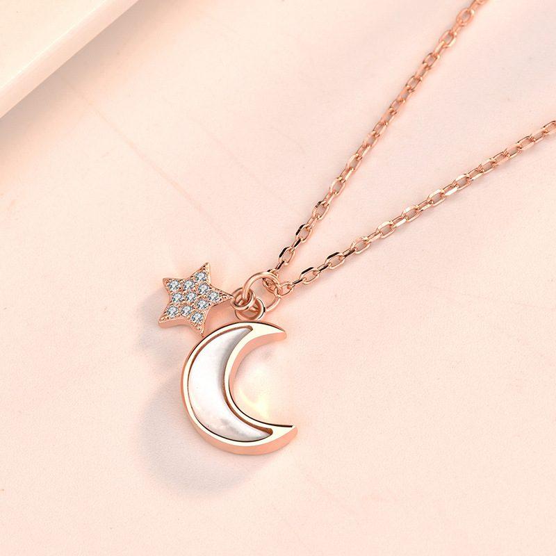 Dây chuyền bạc mạ vàng trăng sao LILI_652773-3