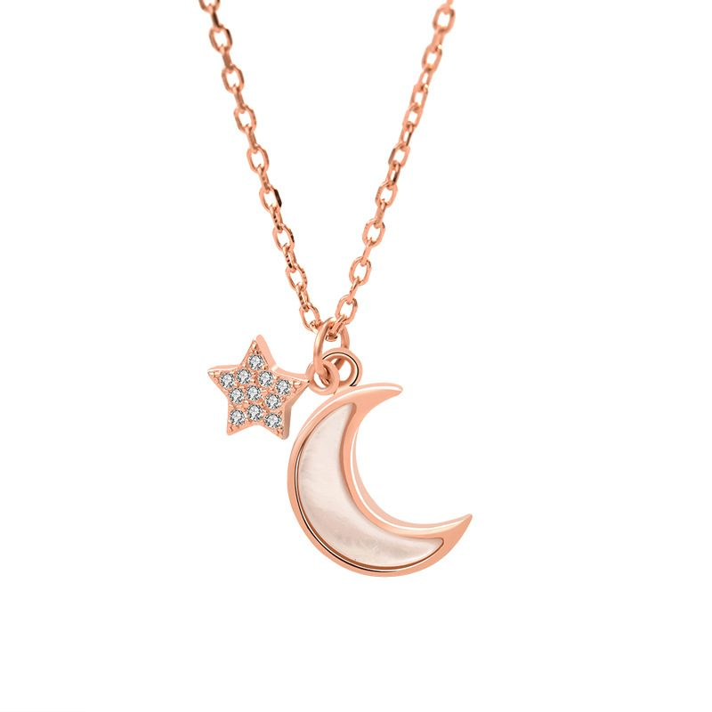 Dây chuyền bạc mạ vàng trăng sao LILI_652773-4