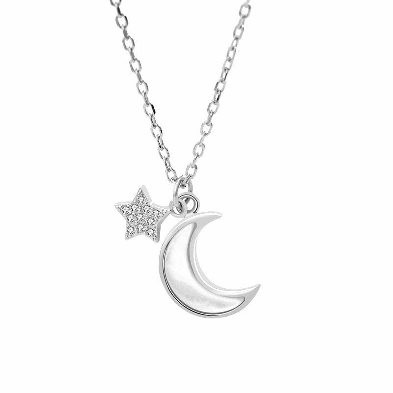Dây chuyền bạc mạ vàng trăng sao LILI_652773-5