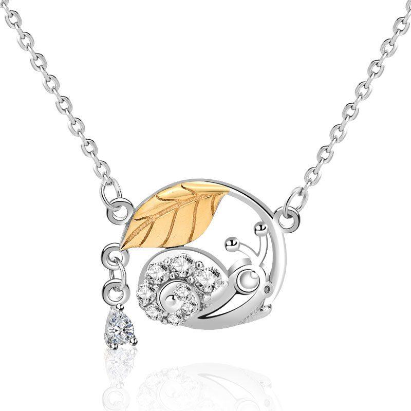Dây chuyền bạc ốc lá mùa thu LILI_742863-1