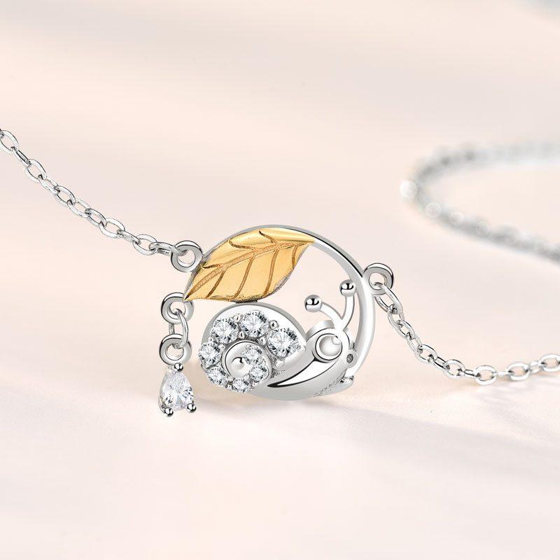 Dây chuyền bạc ốc lá mùa thu LILI_742863-4