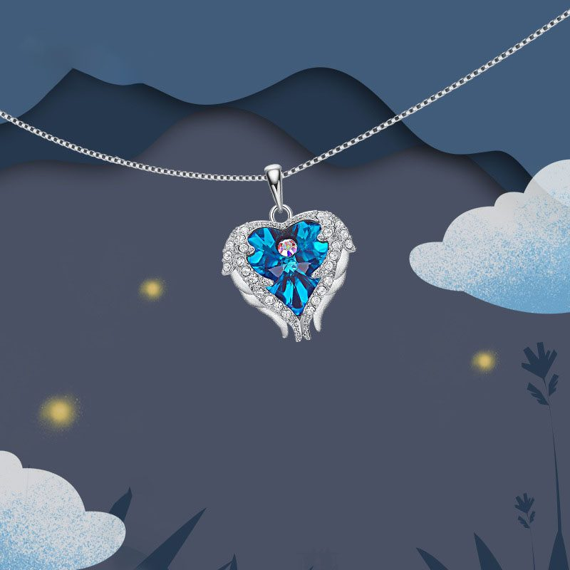 Dây chuyền bạc trái tim pha lê Swarovski LILI_972812-1