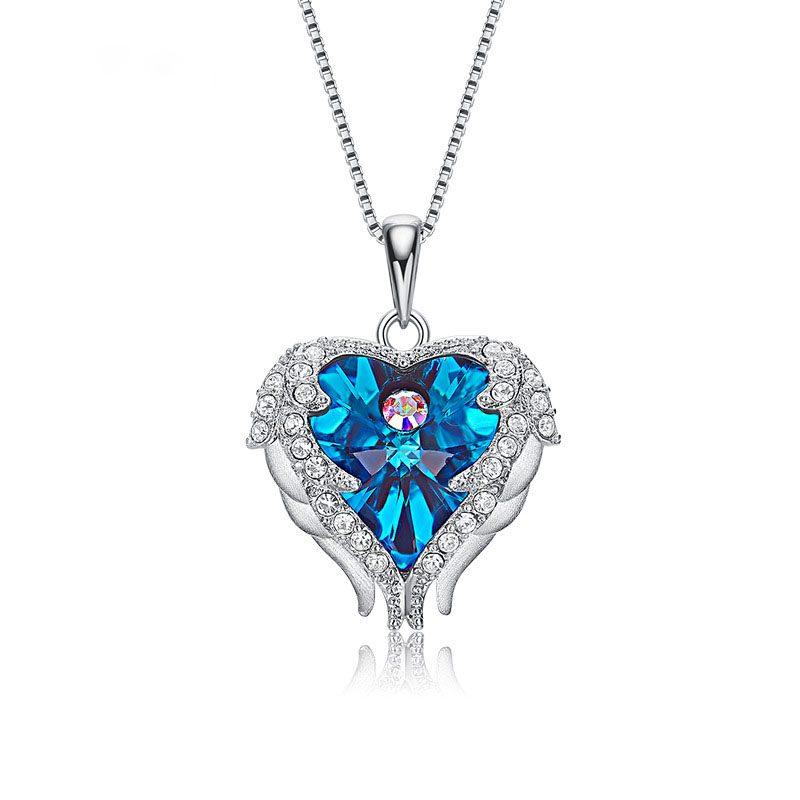 Dây chuyền bạc trái tim pha lê Swarovski LILI_972812-2