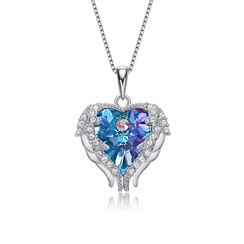Dây chuyền bạc trái tim pha lê Swarovski LILI_972812-4