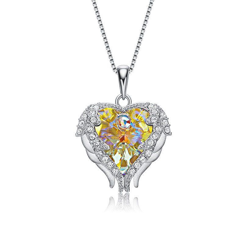Dây chuyền bạc trái tim pha lê Swarovski LILI_972812-6
