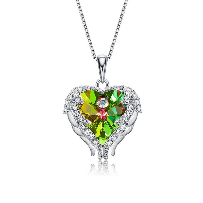 Dây chuyền bạc trái tim pha lê Swarovski LILI_972812-7