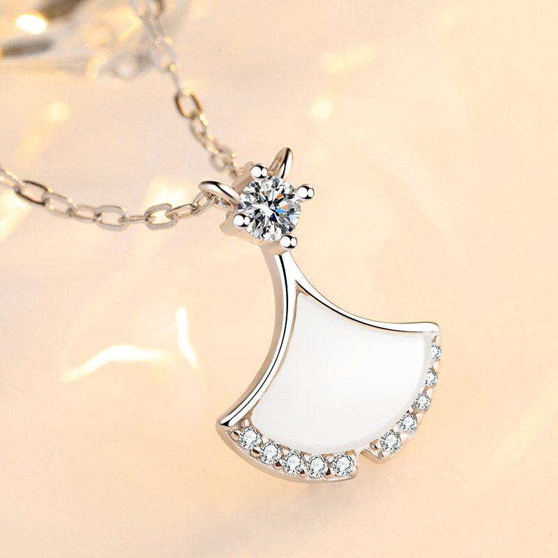 Dây chuyền bạc váy cách điệu LILI_156642-2