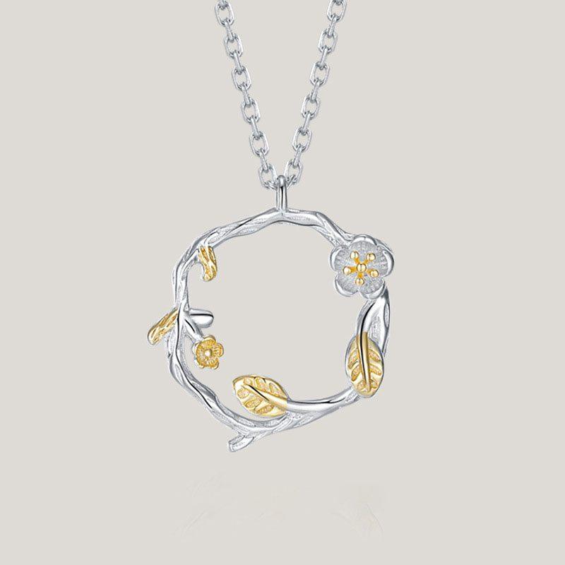 Dây chuyền bạc vòng hoa LILI_626875-1