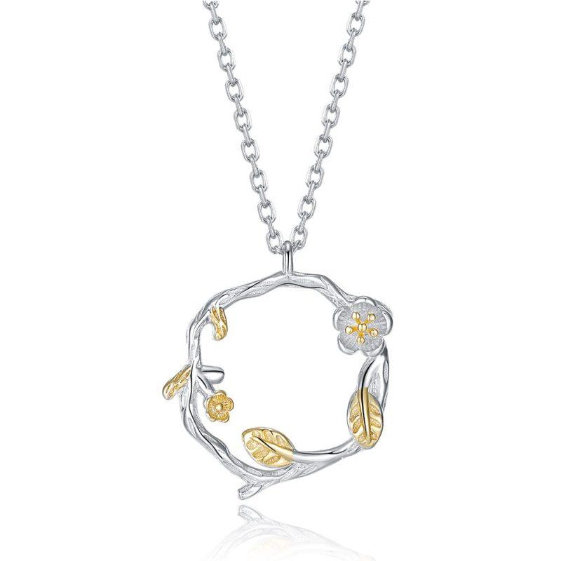 Dây chuyền bạc vòng hoa LILI_626875-5