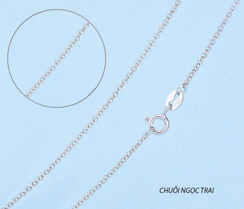 Dây chuyền trơn LILI_226292-16-chuỗi ngọc trai-