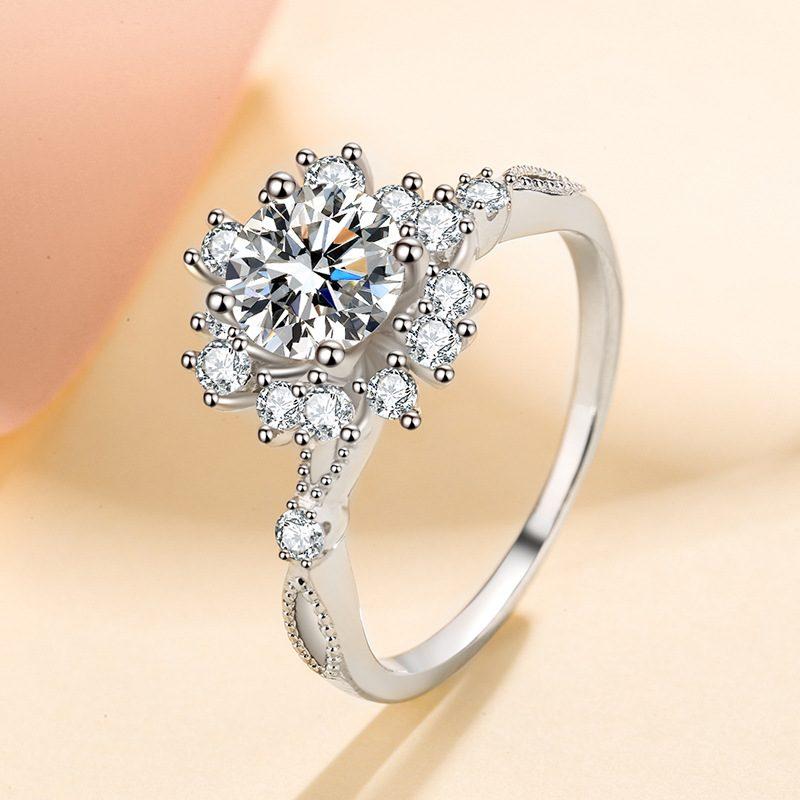 Nhẫn bạc đính đá Mossanite hình bông hoa LILI_364719-03