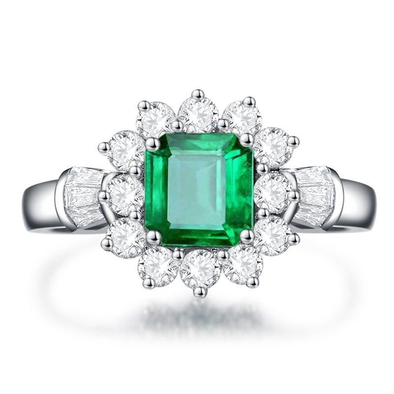 Nhẫn bạc đính đá Zircon Green LILI_815149-04