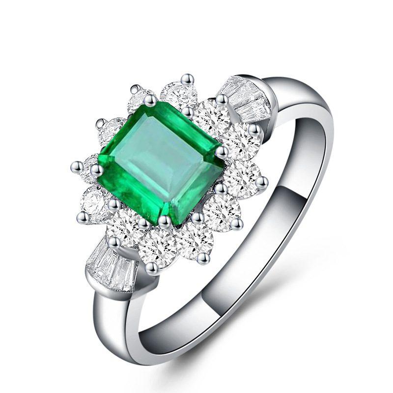 Nhẫn bạc đính đá Zircon Green LILI_815149-06