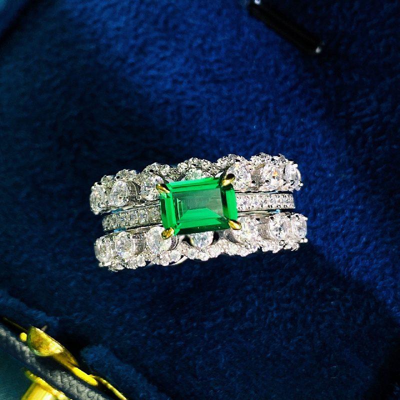 Nhẫn bạc đính đá Zircon Green LILI_866748-01