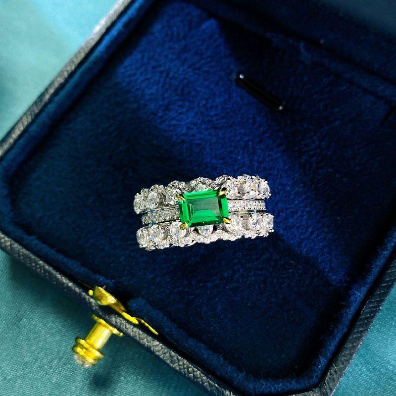 Nhẫn bạc đính đá Zircon Green LILI_866748-03