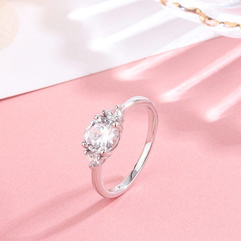 Nhẫn bạc đính đá Zircon LUV LILI_443475-01