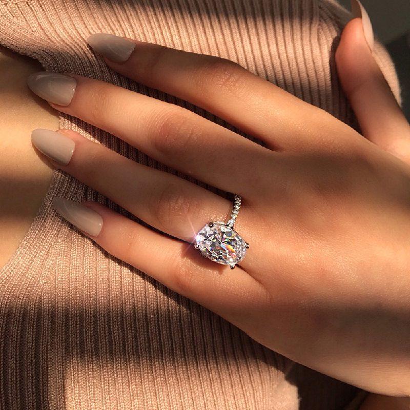 Nhẫn bạc đính đá Zircon Sky Line LILI_183579-06