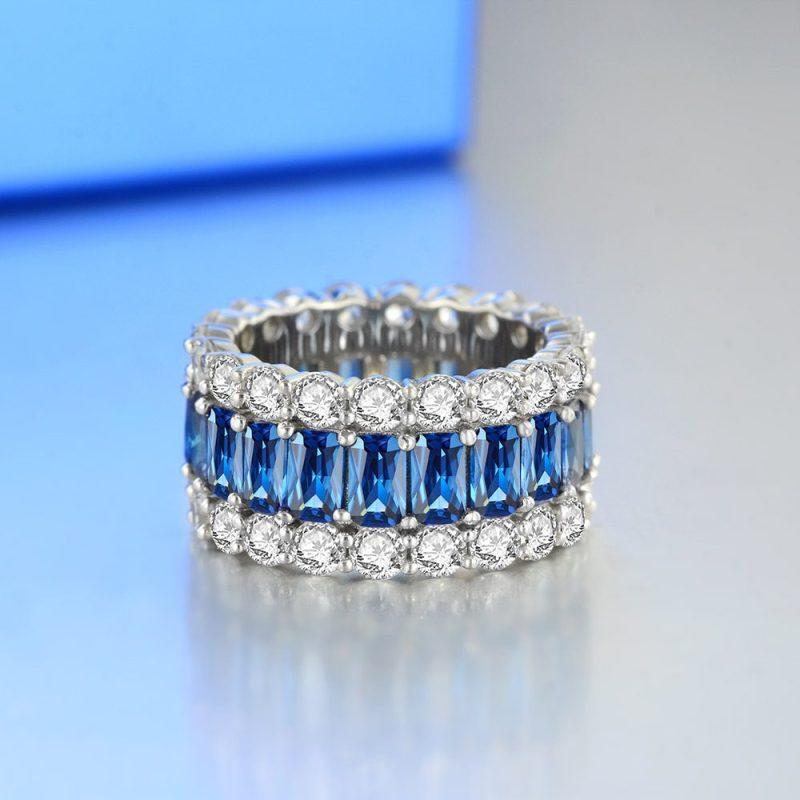 Nhẫn bạc đính đá Zircon đa sắc LILI_671296-03