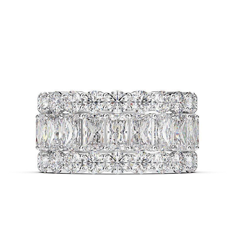 Nhẫn bạc đính đá Zircon đa sắc LILI_671296-05