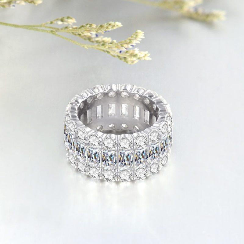 Nhẫn bạc đính đá Zircon đa sắc LILI_671296-08