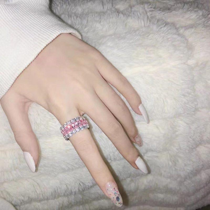 Nhẫn bạc đính đá Zircon đa sắc LILI_671296-09