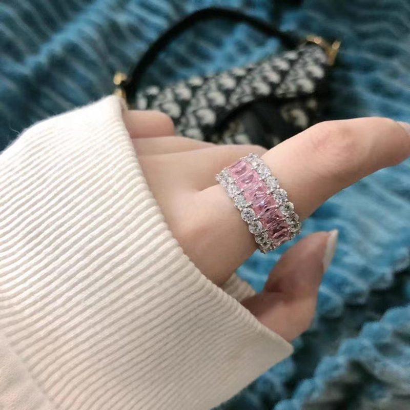 Nhẫn bạc đính đá Zircon đa sắc LILI_671296-10