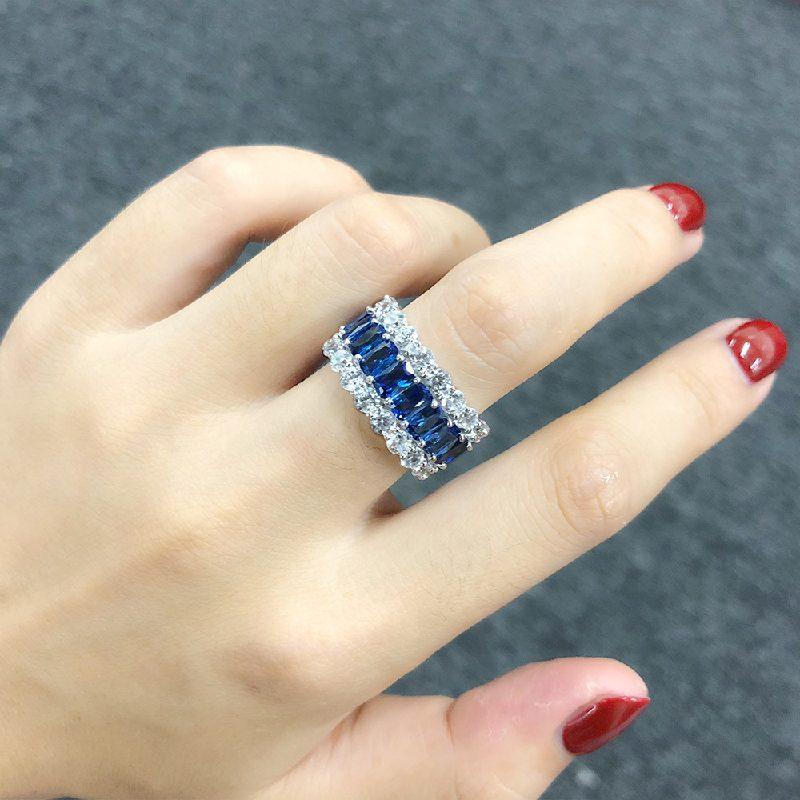 Nhẫn bạc đính đá Zircon đa sắc LILI_671296-12