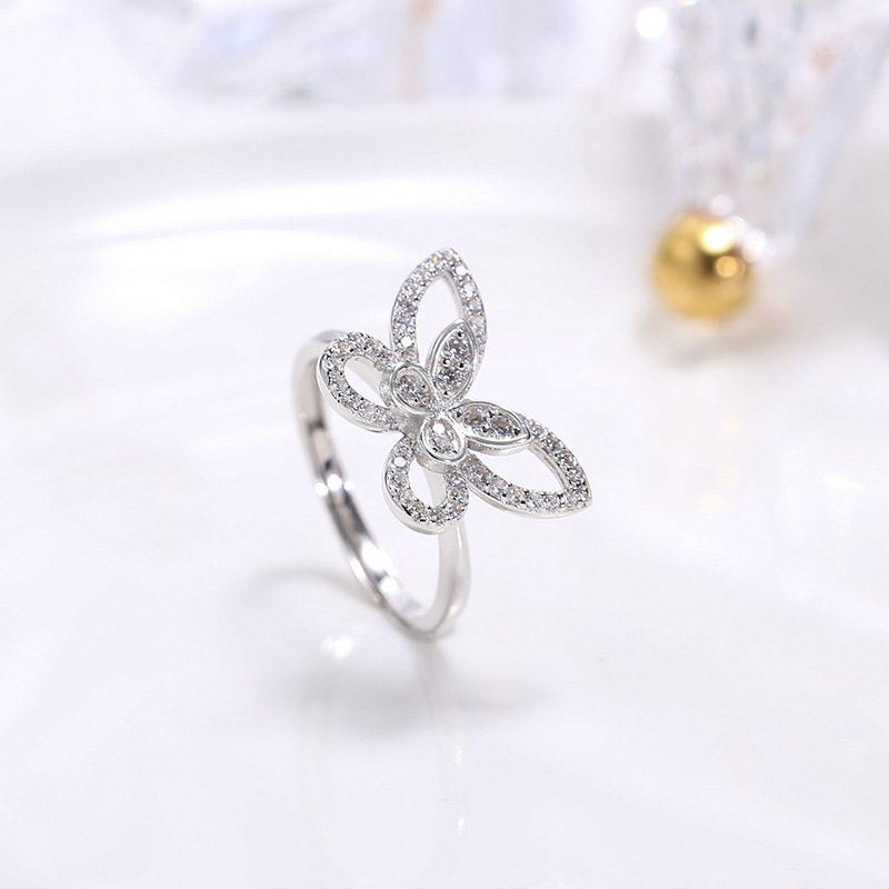 Nhẫn bạc đính đá Zircon hình con bướm xinh LILI_593964-02