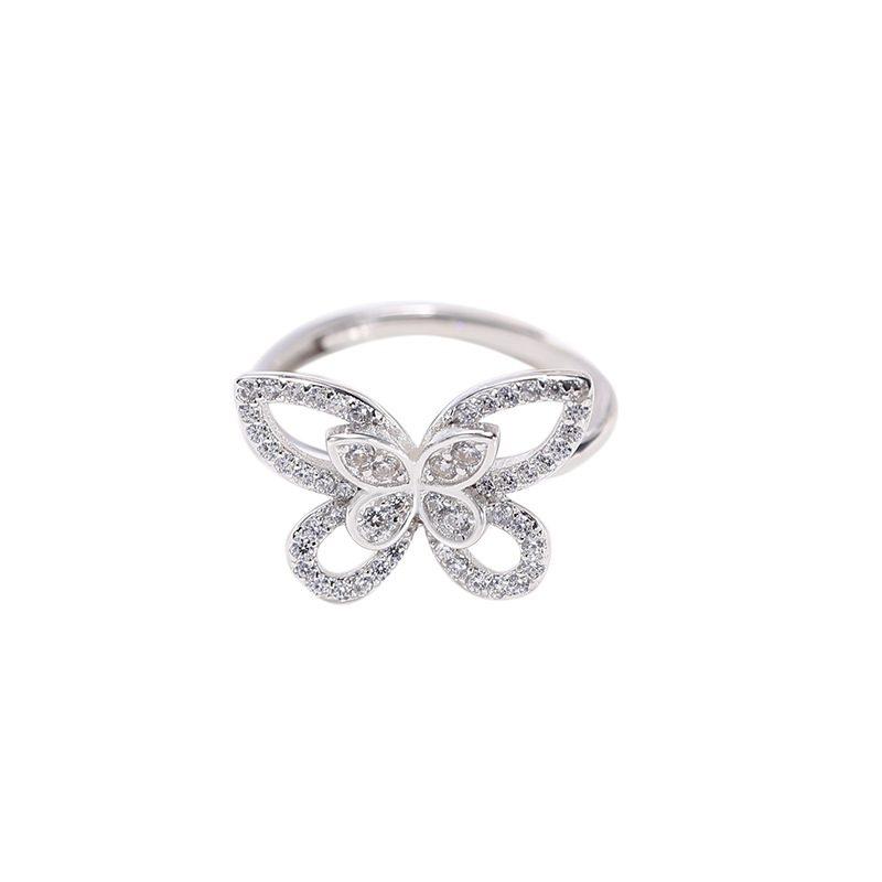 Nhẫn bạc đính đá Zircon hình con bướm xinh LILI_593964-04