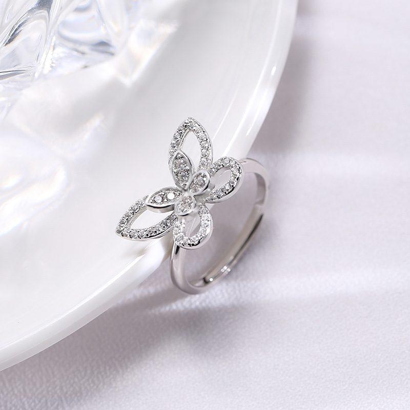 Nhẫn bạc đính đá Zircon hình con bướm xinh LILI_593964-05