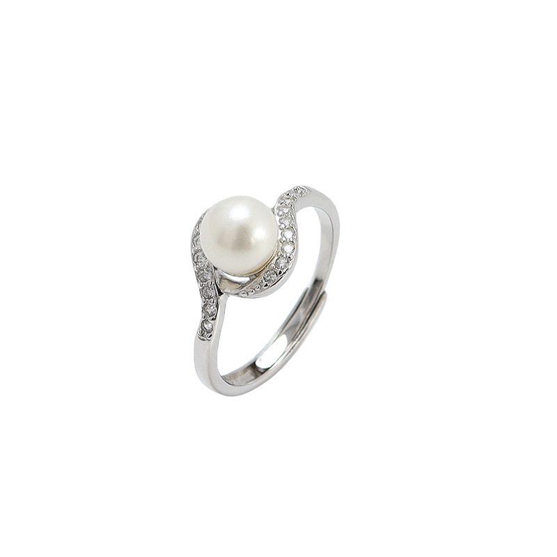 Nhẫn bạc đính ng�c trai Beach Pearl LILI_351532-03