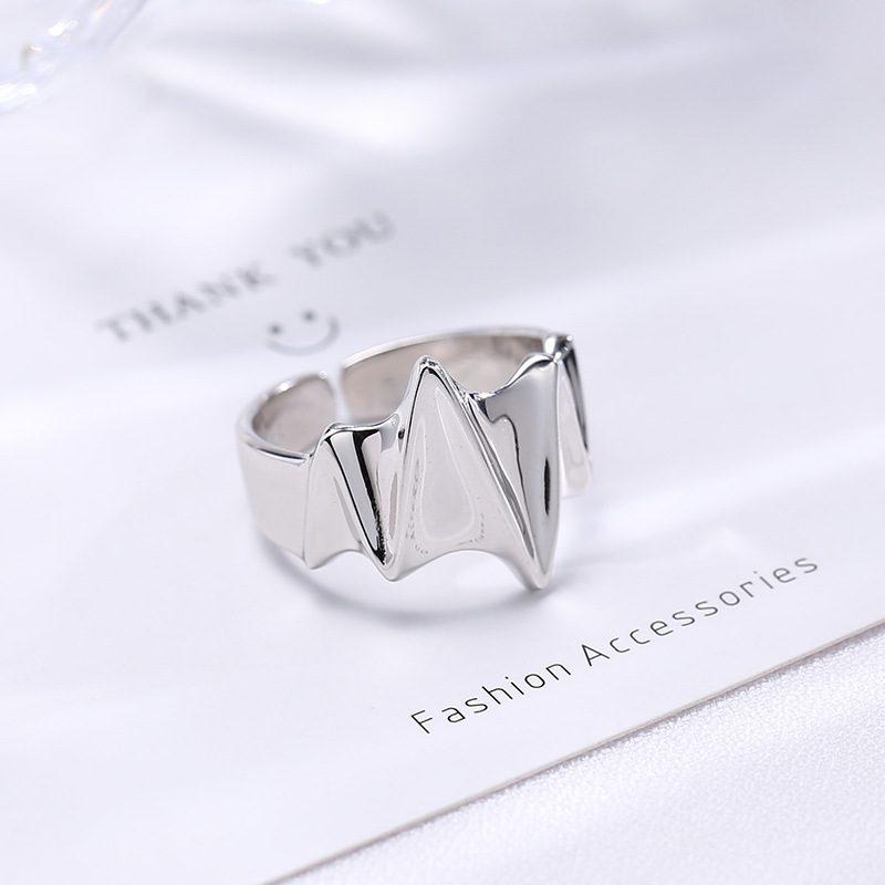 Nhẫn bạc hình điện tâm đồ LILI_259391-04