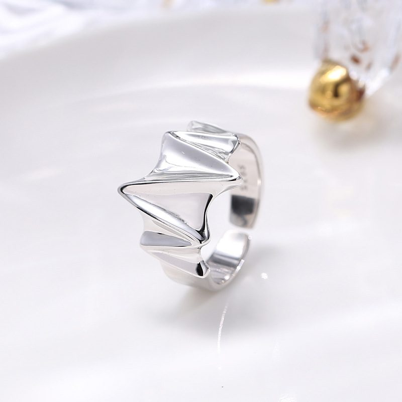 Nhẫn bạc hình điện tâm đồ LILI_259391-05