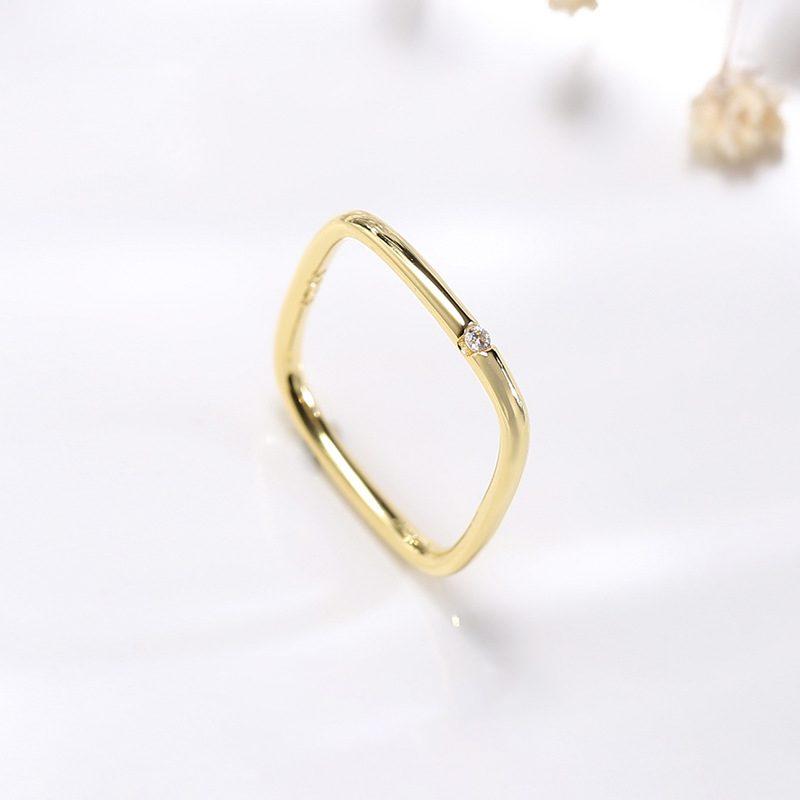 Nhẫn bạc hình vuông cách điệu LILI_381865-01