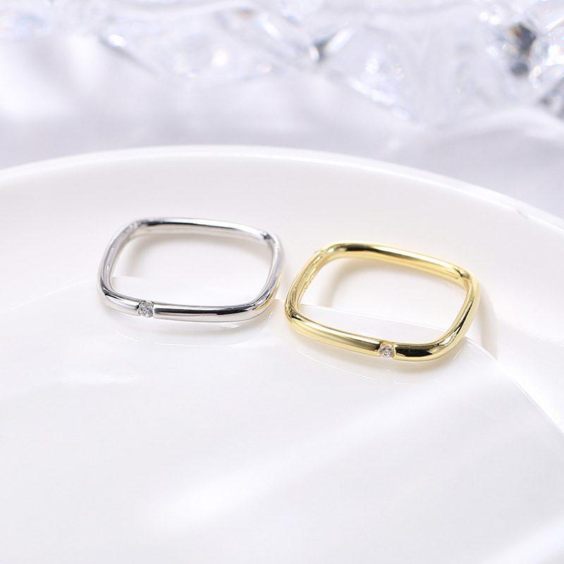 Nhẫn bạc hình vuông cách điệu LILI_381865-02