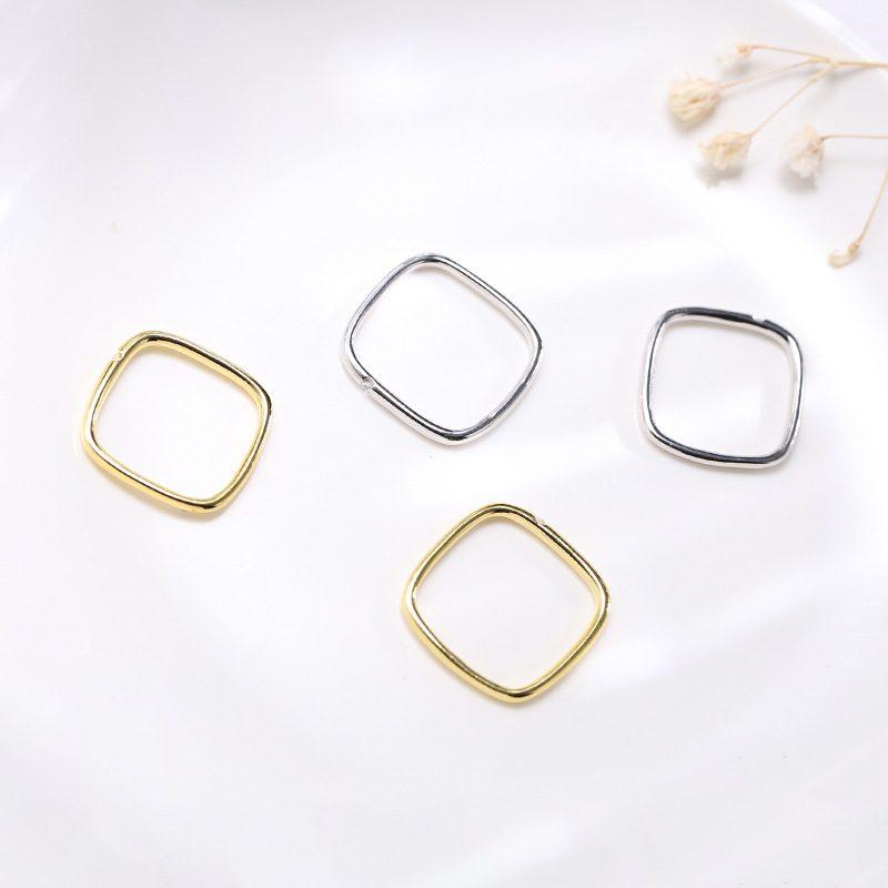 Nhẫn bạc hình vuông cách điệu LILI_381865-03