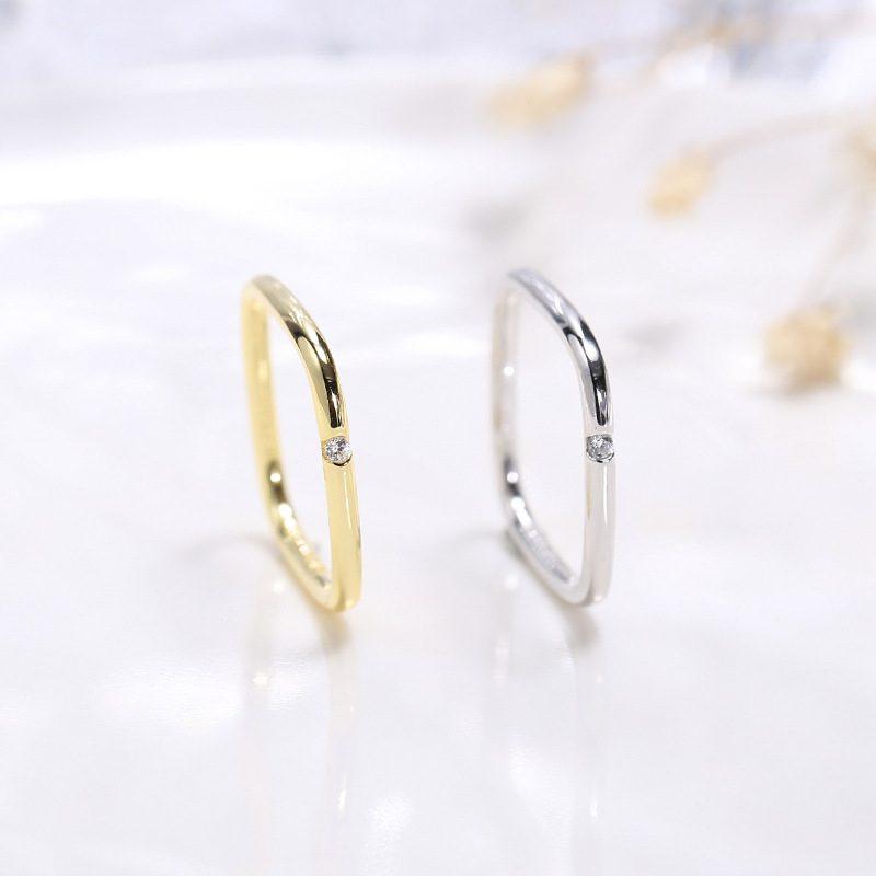 Nhẫn bạc hình vuông cách điệu LILI_381865-05