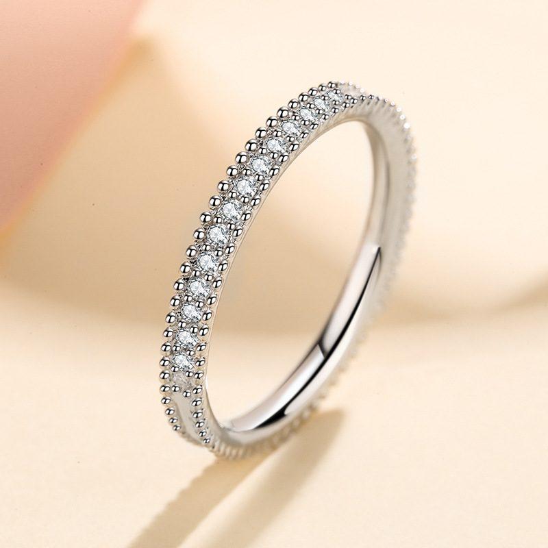 Nhẫn bạc mạ bạch kim đính đá Mossanite 0.15 carat LILI_627394-03