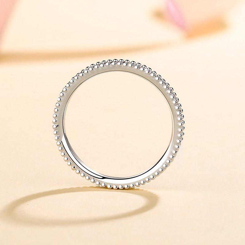 Nhẫn bạc mạ bạch kim đính đá Mossanite 0.15 carat LILI_627394-05