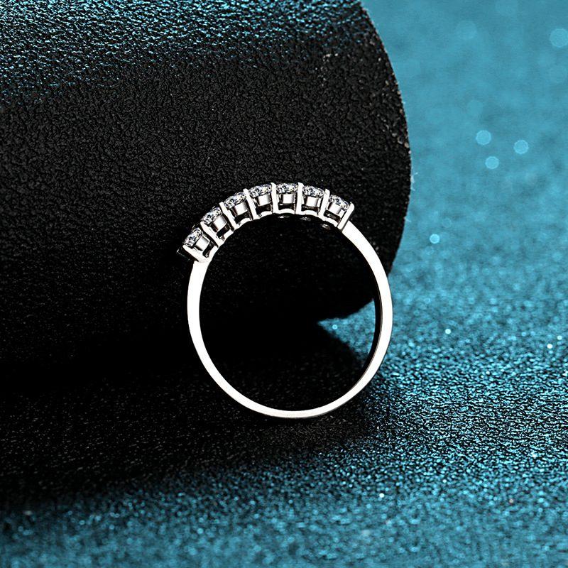 Nhẫn bạc mạ bạch kim đính đá Mossanite 0.7 carat LILI_855174-06