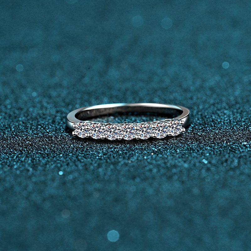 Nhẫn bạc mạ bạch kim đính đá Mossanite 0.7 carat LILI_855174-07