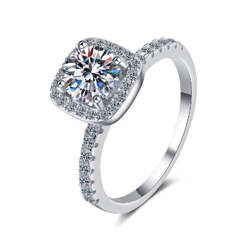 Nhẫn bạc mạ bạch kim đính đá Mossanite 2 carat LILI_478283-04